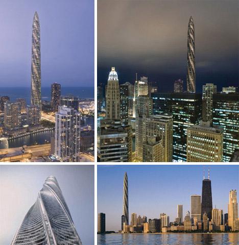 设计的芝加哥螺旋塔