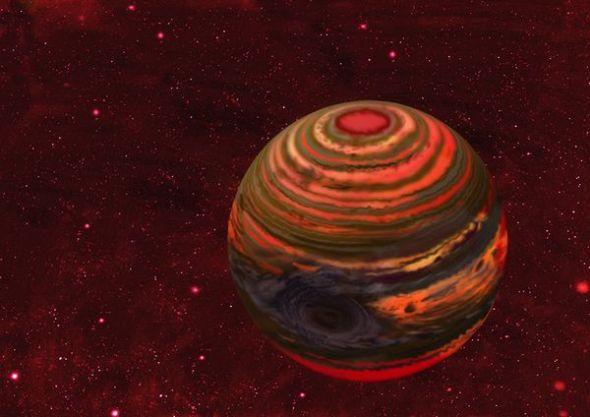 木星结构示意图