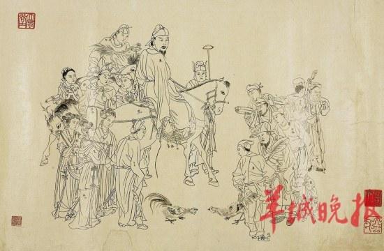 古代书生女孩简笔画
