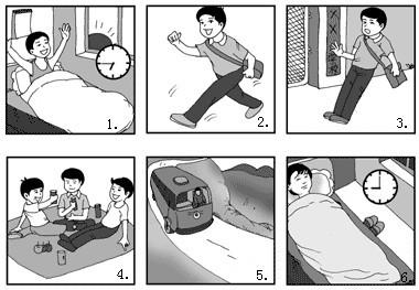 初中英语:看图作文(写话)练习9