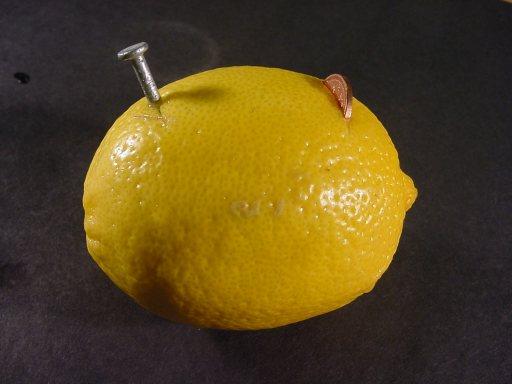 图解柠檬电池的制作