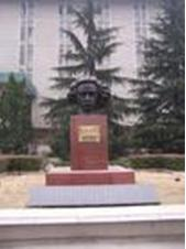 爱因斯坦/爱因斯坦的石雕像...