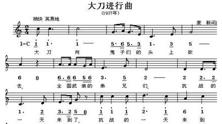 喜峰口战役与《大刀进行曲》
