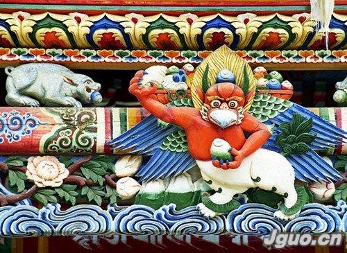 藏族木雕 木上的舞蹈