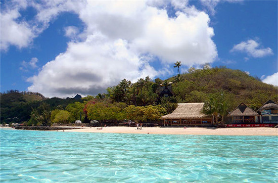 波拉波拉岛马蒂拉海滩