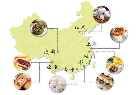 中国月饼地图详解:东西南北各不同