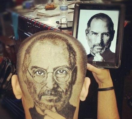 头发雕刻图案星星