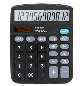 得力deli837 轻便经济款通用型桌面计算器