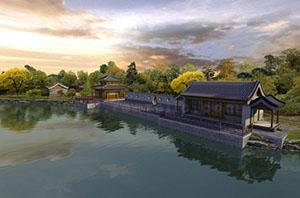 圆明园的西湖景