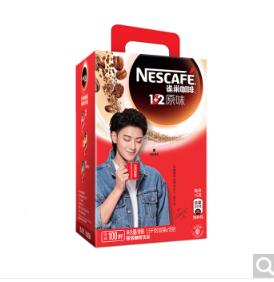 雀巢Nestle咖啡速溶 1 2 原味微研磨 冲调饮品100条1500g新老包装交替发货